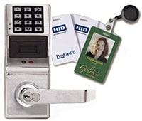 Keyless access control for office, hospital, and other commercial doors