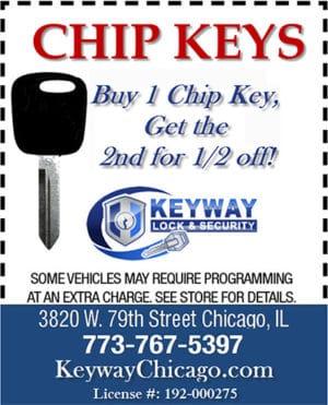 Buy one chip key get one half price