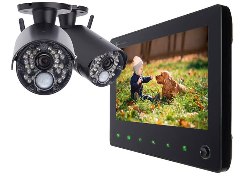 We can install security cameras that can be accessed via tablets and even mobile phones