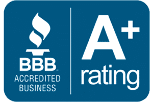 We're and A+ accredited business with the BBB.